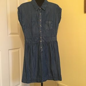 Chambray summer dress. So comfy and cute.